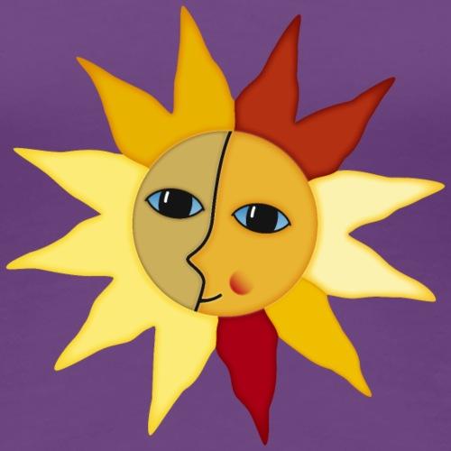 Sonnenstrahlen Mond Gesicht Augenblick Glück hygge - Women's Premium T-Shirt