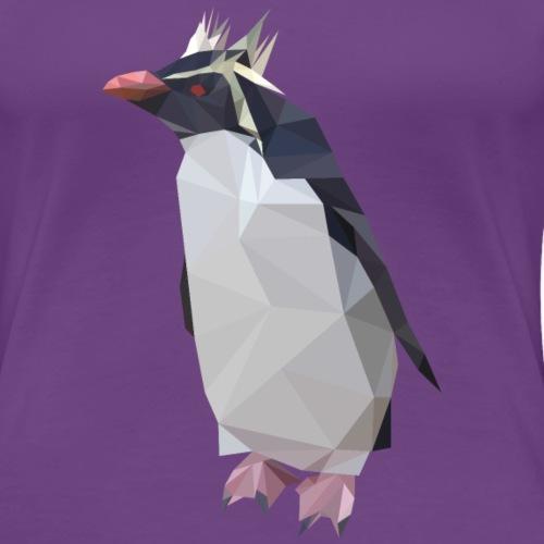 Low Poly Rockhopper Penguin - Women's Premium T-Shirt