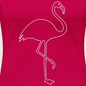 Flamingo Silhouette in pink - Frauen Premium T-Shirt