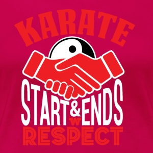 Karate Respect - Frauen Premium T-Shirt