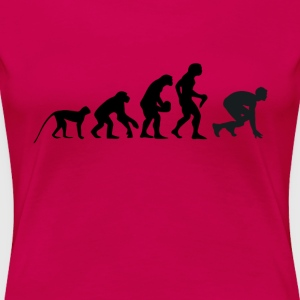 evolution löpare - Premium-T-shirt dam