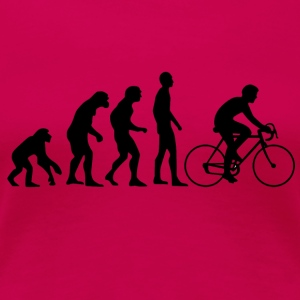 Human Evolution Rennrad - Frauen Premium T-Shirt