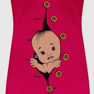 Design 1 baby without smile buttons right - Women's Premium T-Shirt