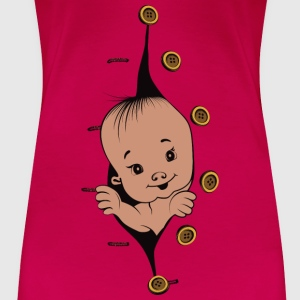 Design 1 baby with smile buttons right - Women's Premium T-Shirt