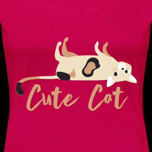Süße Katze Rücken Geschenk - Frauen Premium T-Shirt