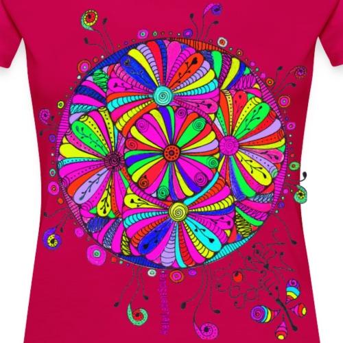 RosarotesBlumenMeer - Frauen Premium T-Shirt
