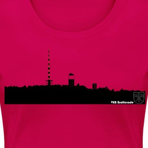 Skyline Inselsberg schwarz - Frauen Premium T-Shirt