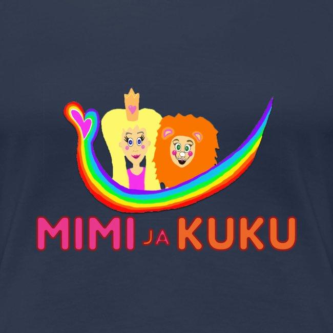 Mimi ja Kuku- sateenkaarilogolla
