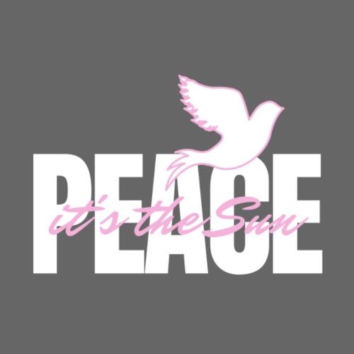 Peace, it's the sun - Naisten premium t-paita