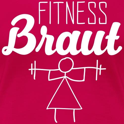 JGA Braut Fitness Hochzeit Junggesellenabschied - Frauen Premium T-Shirt