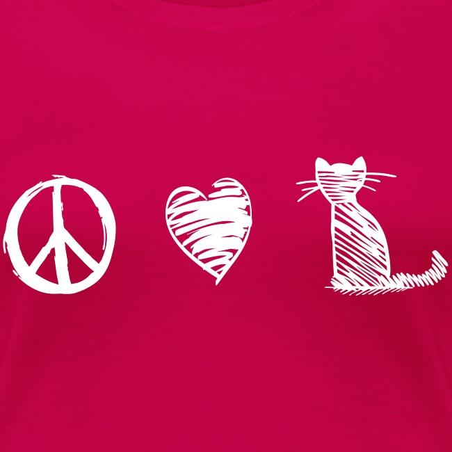 Vorschau: peace love cats - Frauen Premium T-Shirt