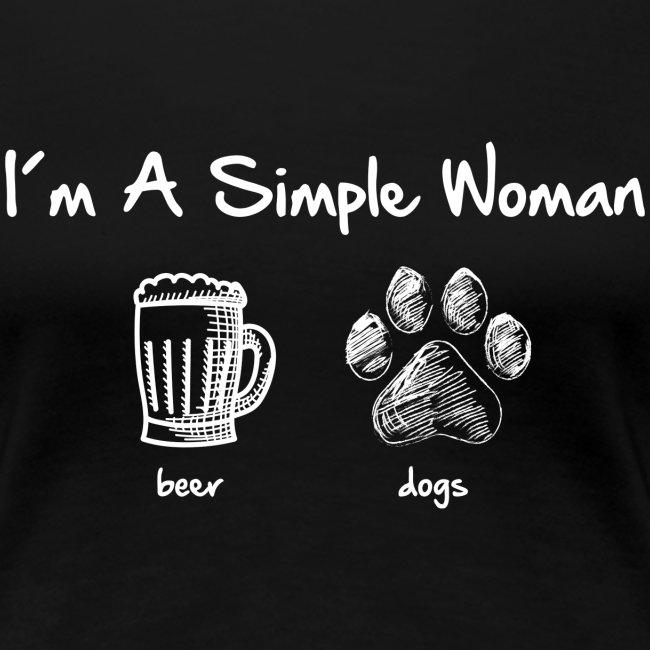 Vorschau: simple woman beer white - Frauen Premium T-Shirt