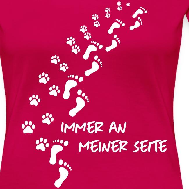 Vorschau: Immer an meiner Seite - Mein Hund und Ich - Frauen Premium T-Shirt