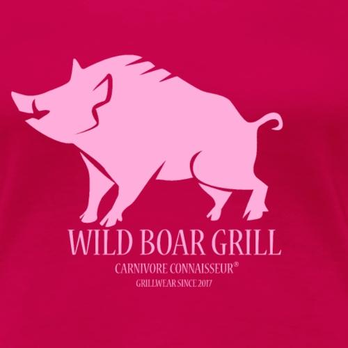 Wild Boar Grillshirt BBQ - Frauen Premium T-Shirt