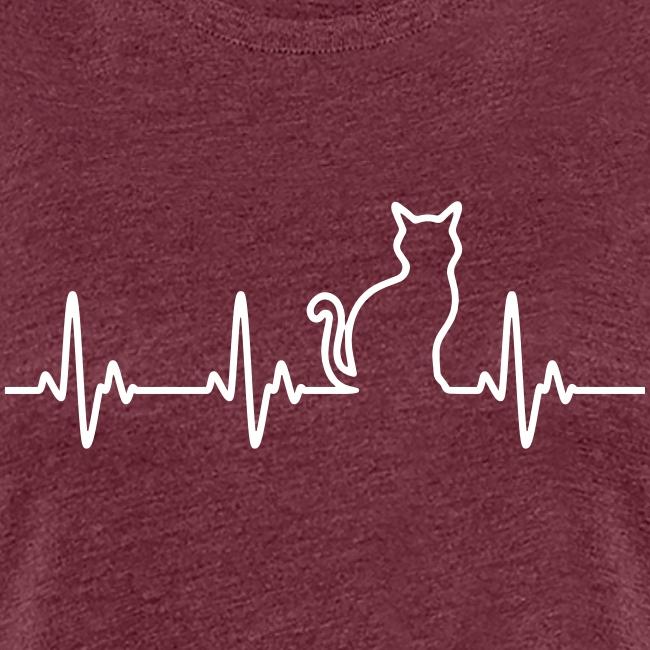 Vorschau: Ein Herz für Katzen - Frauen Premium T-Shirt