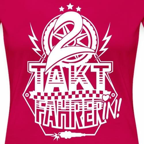2-Takt-Fahrerin / Zweitaktfahrerin - Women's Premium T-Shirt