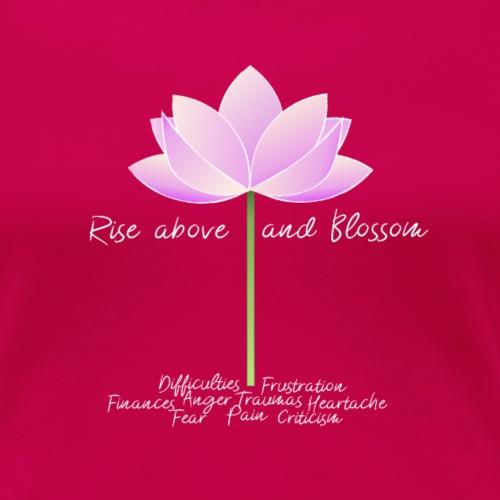 Blossom White Letters - T-shirt Premium Femme