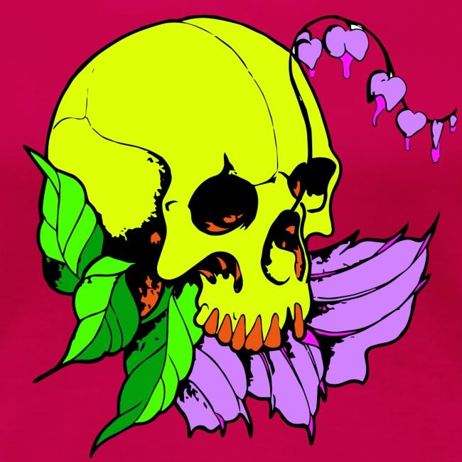 Skalle och blomma