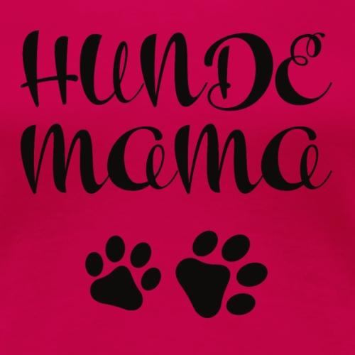 Hunde Mama mit Pfotenabdruck - Frauen Premium T-Shirt