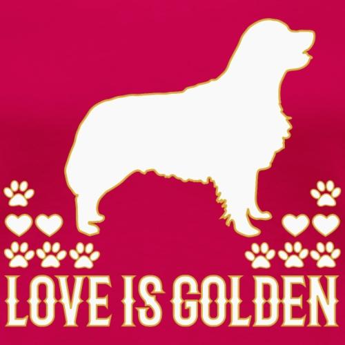 Golden Retriever Hundemotiv mit süßem Hund - Frauen Premium T-Shirt