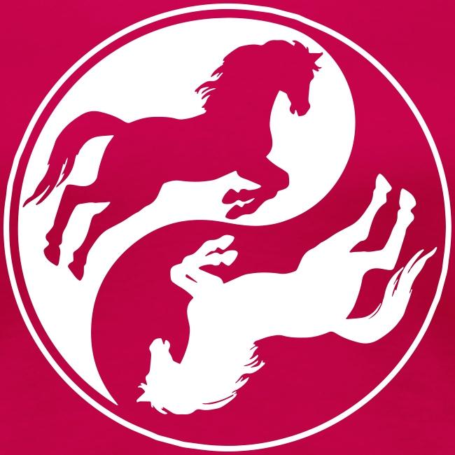 Vorschau: Horse Ying Yang - Frauen Premium T-Shirt