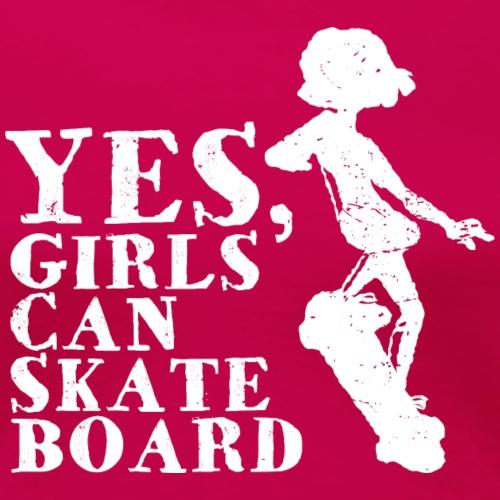 Mädchen Girls Skateboard Skateboarder Geschenk - Frauen Premium T-Shirt