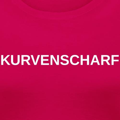 KURVENSCHARF 0TE03 - Frauen Premium T-Shirt