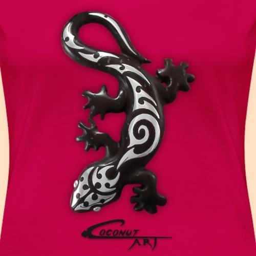 CA-Gecko-black - Frauen Premium T-Shirt