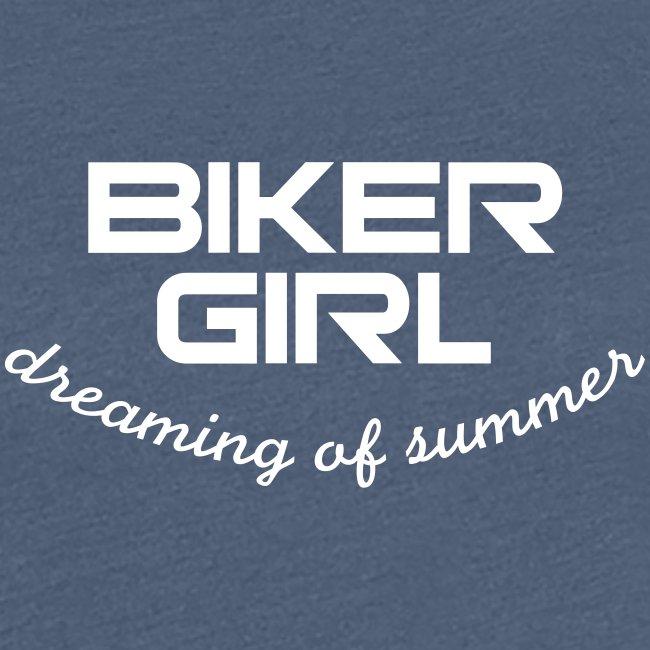 Biker Girl dreaming of summer
