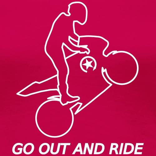 go out and ride superbike wheelie - Women's Premium T-Shirt