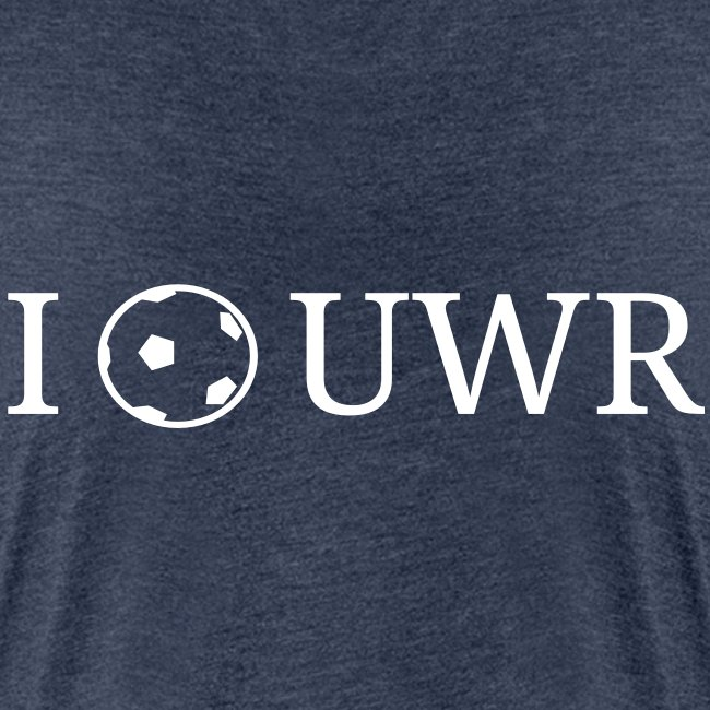 I Love UWR (1 Zeile, Serif, 2Farben)
