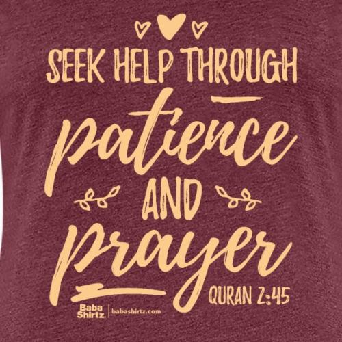 Quran 2:45 - Frauen Premium T-Shirt