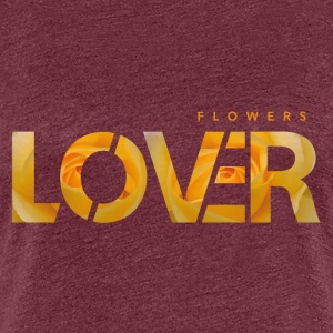Lovers Blomster - Gul - Dame premium T-shirt