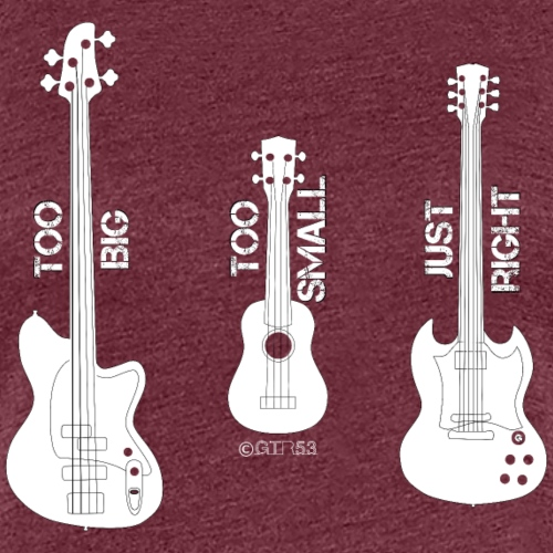 Goldilocks Guitar (White) - Women's Premium T-Shirt
