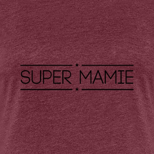 Logo Super Mamie Noir - T-shirt Premium Femme