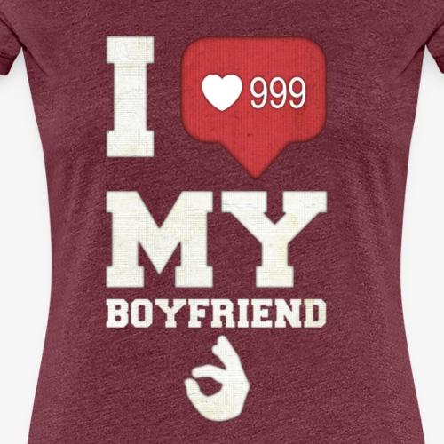 Ich liebe meinen Freund - Frauen Premium T-Shirt