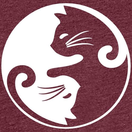 yin yang cat - Frauen Premium T-Shirt