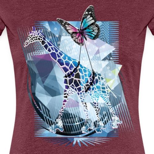 Abstrakt | Fantasie Design Polygon Illustration - Frauen Premium T-Shirt