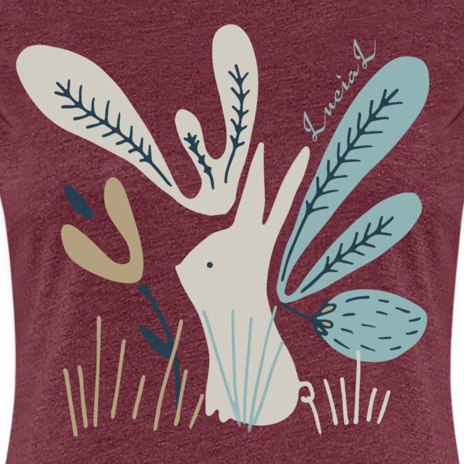 Rabbit in winter wonderland