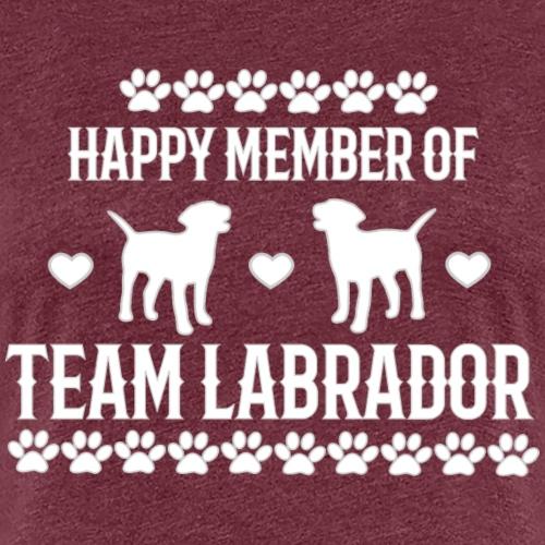 Labrador Team Member weiße Schrift - Frauen Premium T-Shirt