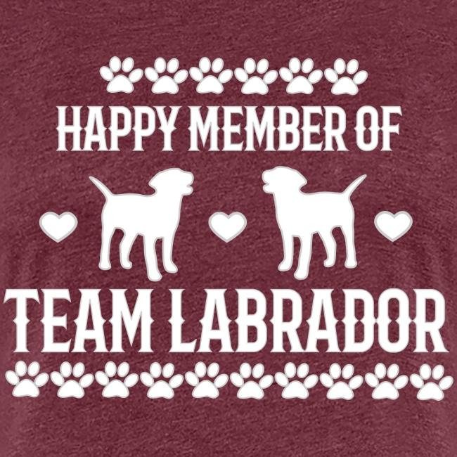 Labrador Team Member weiße Schrift
