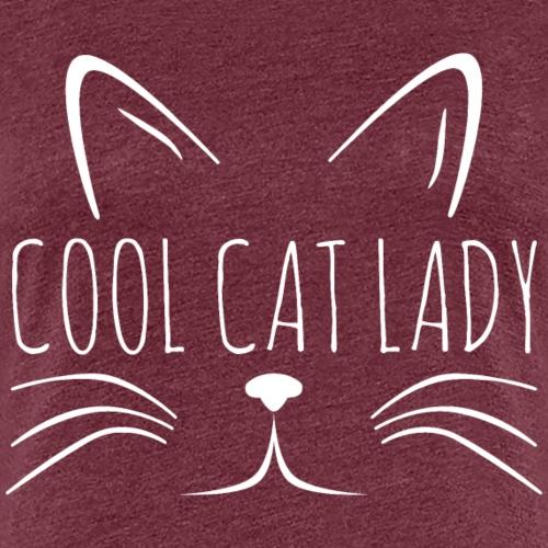 Cool Cat Lady Katze Kätzchen Mama Shirt Geschenk - Frauen Premium T-Shirt