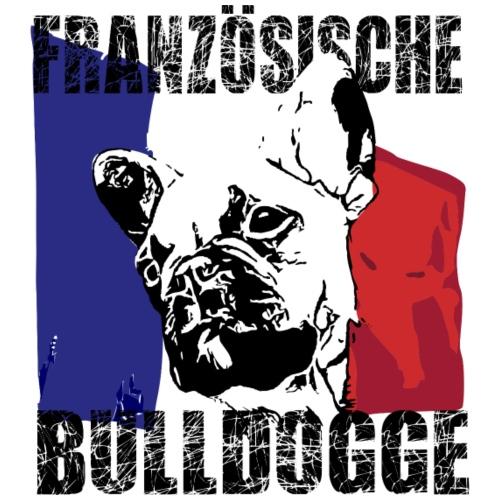 Französische Bulldogge mit Flagge - Frauen Premium T-Shirt
