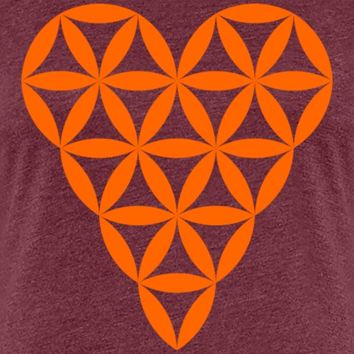 Heart of Life - Heart Symbol - Orange - Women's Premium T-Shirt