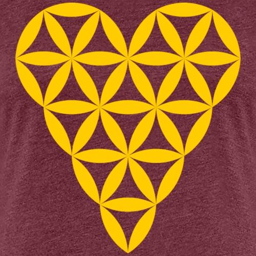 Heart of Life - Heart Symbol - Yellow - Women's Premium T-Shirt