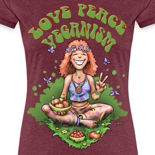 Love Peace Veganism - Frauen Premium T-Shirt