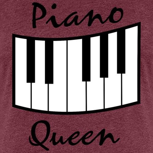 piano queen design black - Frauen Premium T-Shirt