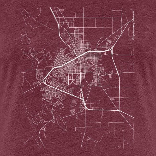 Minimal San Angelo city map and streets