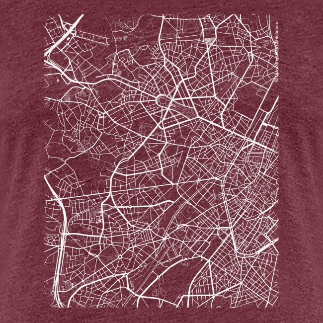 Minimal Molenbeek city map and streets
