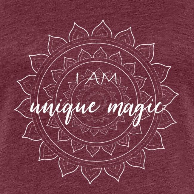 I am unique magic white mandala